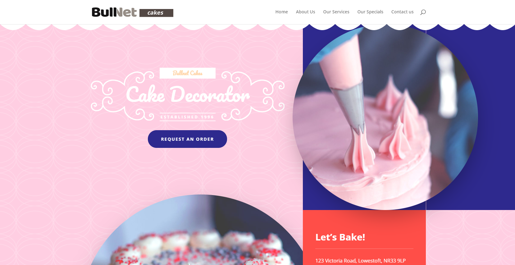 sample website for cakemakers