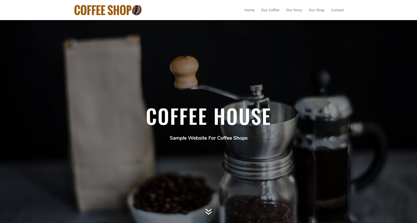 sample website for coffee shops