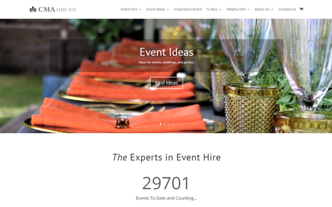 Stunning New Website for CMA Hire!
