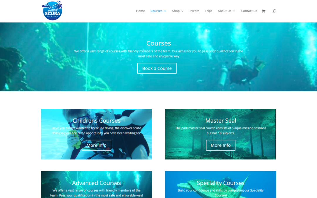 New Website for East Point Scuba!